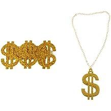 MagiDeal Costume del Rapper del Vestito Operato Dall anello di Hip Hop  Dell oro 38f7fe504970