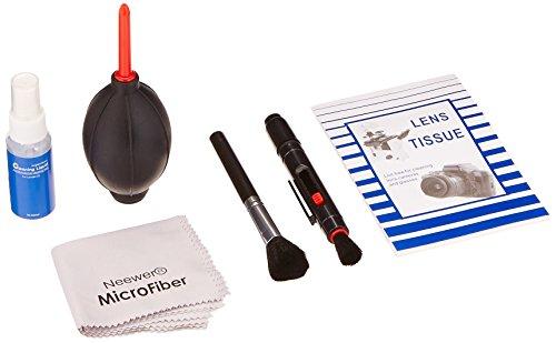 Neewer® 6-IN-1 professionelle Reinigungsset für Spiegelreflexkamera und empfindliche Elektronik (Canon, Nikon, Pentax, Sony, Teleskope und Ferngläser) - Lieferumfang: Objektiv Reinigungsstift + Objektivpinsel + Blasebalg + 50 Einweg Reinigungspapier + Handlich Leere Sprühflasche + 1 Premium Microfaser Reinigungstuch