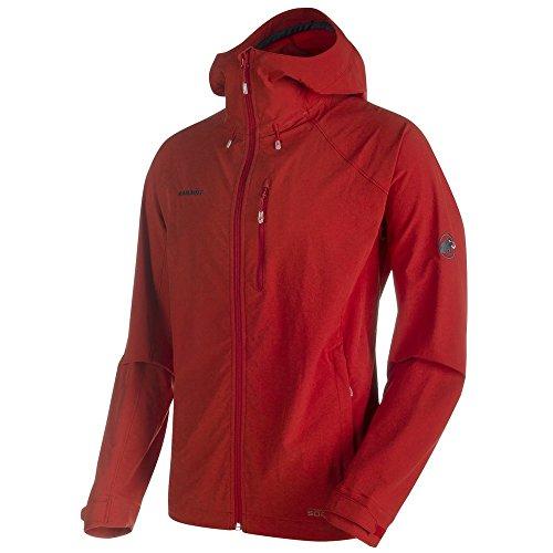 Mammut Runbold Trail SO Hooded Jacket Men - Softshell Outdoorjacke lava