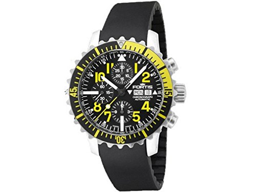 Fortis montre homme Maritim B-42 Marinemaster chronographe Yellow automatique 671.24.14 K