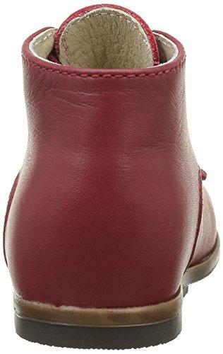 Little Mary Miloto, Chaussures Premiers pas mixte bébé Rouge  (Vachette Cherry)