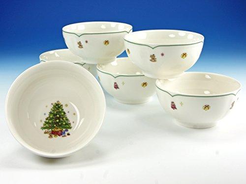 Creatable 16192Juego de Cuencos de Cereales (6Piezas, Porcelana,, 28x 21,5x 14,5cm