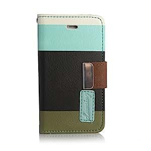 Lumsing® Schutzhülle Handyhülle Hardcase Leder Tasche mit Folien Kit Handytasche Case Hülle Cover Schale iPhone 4/4S