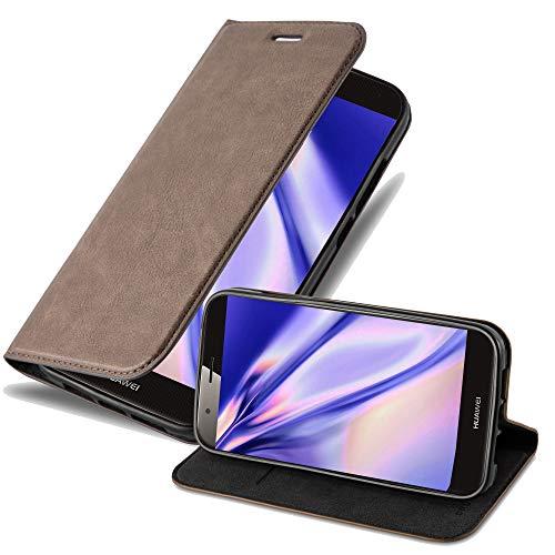 Cadorabo Hülle für Huawei G7 Plus / G8 / GX8 - Hülle in Kaffee BRAUN - Handyhülle mit Magnetverschluss, Standfunktion und Kartenfach - Case Cover Schutzhülle Etui Tasche Book Klapp Style
