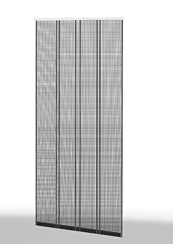 "Klemm Lamellenvorhang Insektenschutzvorhang""Comfort"" 4 tlg 100x220 cm Profil weiß, Lamelle weiß"