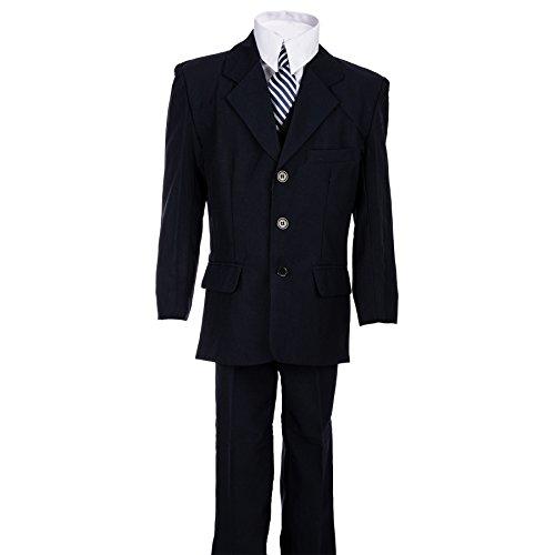 Festlicher 5tlg. Jungen Anzug in vielen Farben #18bl Blau Gr. 6 / 110 / 116