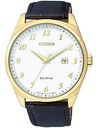 Citizen Herren-Armbanduhr Analog Quarz Edelstahl beschichtet BM7322-06A