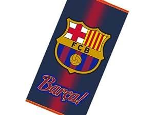 100% Coton FC Barcelone Messi Serviette de bain- Drap de plage NOIR 2013