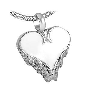 Luxuon SchmuckAsche Halskette Urne Anhänger, Edelstahl Memorial Urne Halskette Feuerbestattung Anhänger Beerdigung Asche Inhaber Andenken