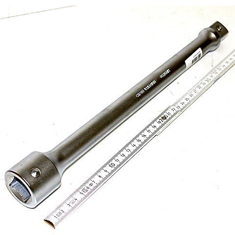 2,54 cm 25,4 mm estensione 40 cm 400 mm lunga in acciaio al cromo-vanadio-acciaio, con fusibile pottone, per allungare il cavo tra il cricchetto (pistola) e Inserto per chiave a tubo (frutta), WGB, 10 anni di