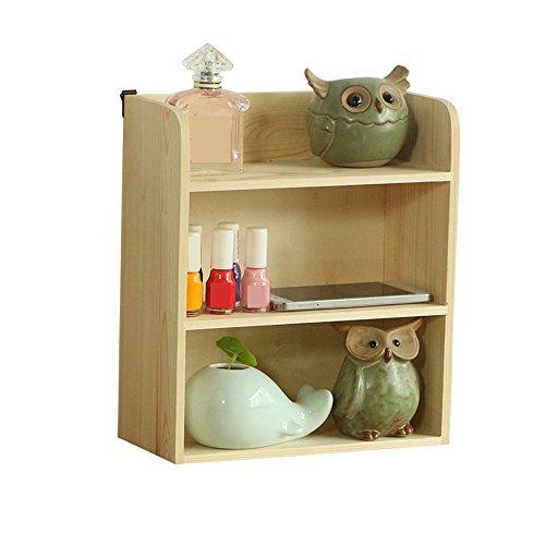 Baoffs Multifunktion Holz-Multi-Layer-Desktop Aufbewahrungsbox Kosmetik Aufbewahrungsbox Schrank Debris Creative Desktop Aufbewahrungsbox 3-stufiger Desktop-Organizer -