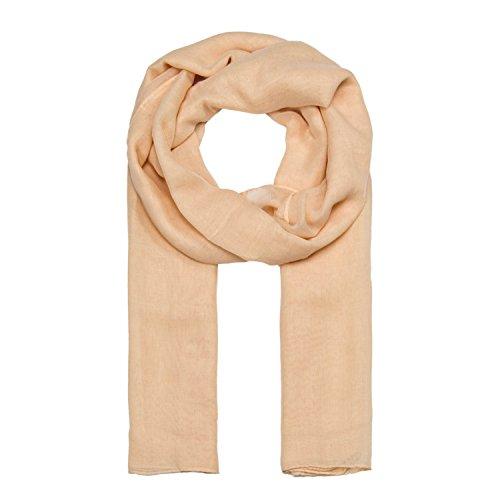 ManuMar Schal einfarbig | Hals-Tuch in Uni-Farben | einfarbig Hautfarben als perfektes Sommer-Accessoire | klassischer Damen-Schal - Das ideale Geschenk für Frauen