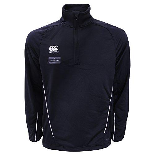 Canterbury - Team - Felpa Sportiva con Cerniera sul Colletto - Uomo Blu navy/Bianco