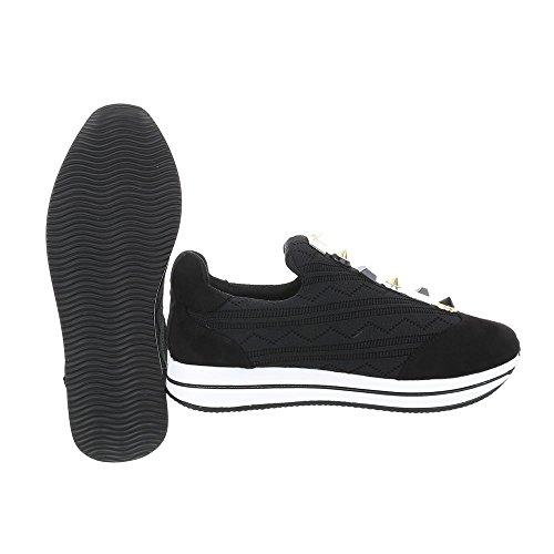 Sneakers Ital-design Basse Sneakers Da Donna Sneakers Basse Scarpe Casual Nere D-20
