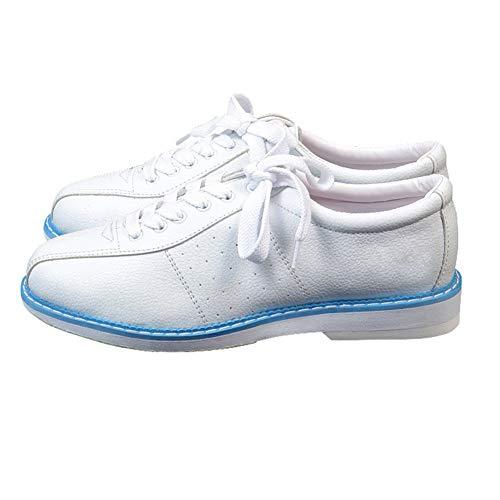 CoolTarget Weiße Bowlingschuhe für Männer Frauen Unisex Sport Anfänger Bowlingschuhe Turnschuhe