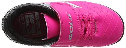 Gola Unisex-Kinder Talos Vx Velcro Fußballschuhe Pink (Pink/black/silver)