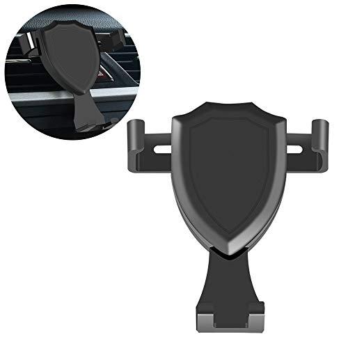 Preisvergleich Produktbild Myhonour Autohalterung Lüftung Handyhalterung 360 Grad Drehbar für iPhone X,  8 Plus,  7,  Samsung S9,  S8,  A5,  Huawei P20, Mate 10,  GPS usw. Schwarz (Schwarz)