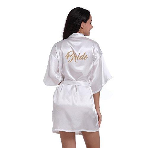 TheRobe Damen pure color short kimono roben mit glitter für hochzeitsfest klein weiß Kimono-shorts