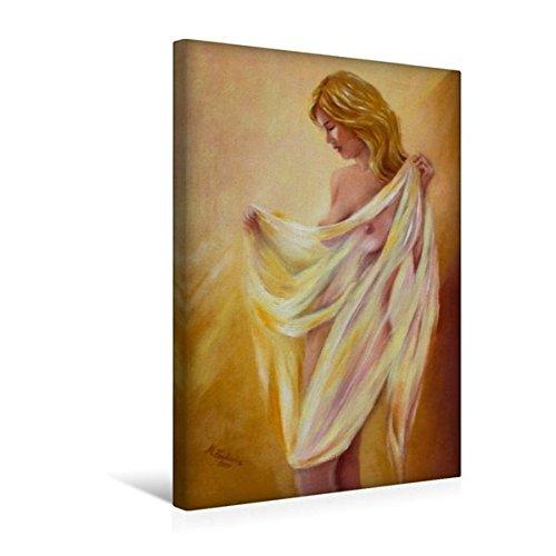Premium Textil-Leinwand 30 cm x 45 cm hoch, Akt mit Tuch | Wandbild, Bild auf Keilrahmen, Fertigbild auf echter Leinwand, Leinwanddruck: Erotik handsigniert, Ölgemälde (CALVENDO Menschen) (Ölgemälde Akt Weiblicher)