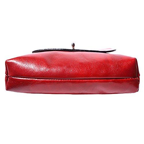 Ledertasche 6546 Medium flache Medium Rot flache wq0Wn8Z6q7
