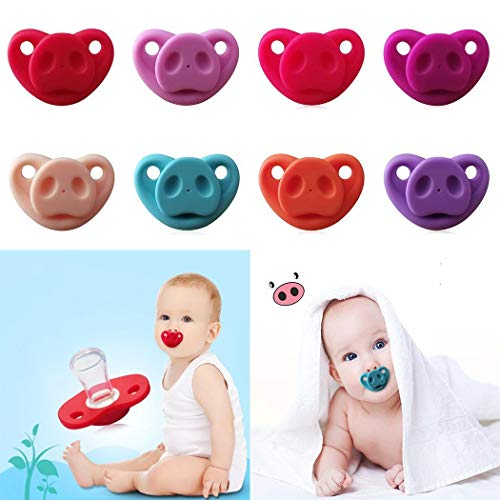 Hello22 Baby Cartoon Schwein Nase Schnuller, weiche Silikon niedlichen Schnuller Design Beißring Spielzeug für Neugeborene Kleinkind, perfekt für Jungen Mädchen - BPA frei - Schwein-schnuller