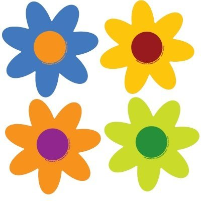 Set of 4 Pastel Flower Pack by Magnet America