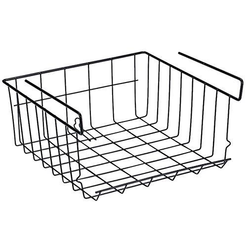 PROKTH Hängekorb Schrankkörbe, Metall Mesh Aufbewahrungskorb einfach einhängen für Küchenschränke Regale Kühlschrank