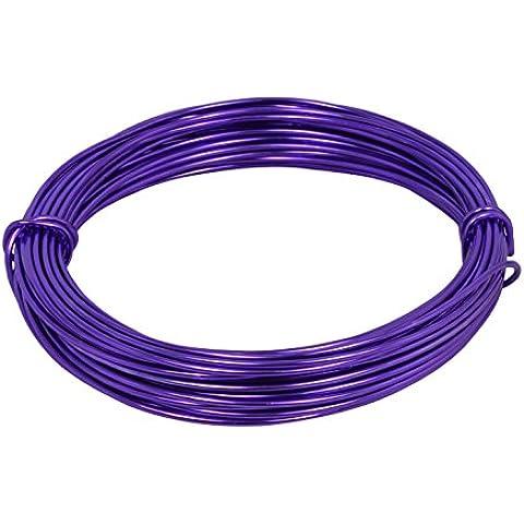 Corderie Italiane 6025603 - 00 Alambre De Aluminio, 2,0 Mm, 12 Mt, Viola, color: violeta