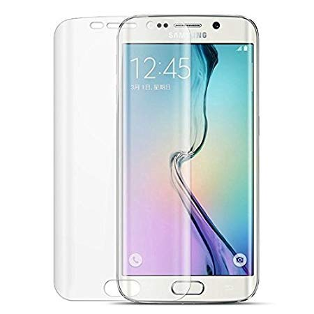 Tingtong Samsung Galaxy S6 Edge+ Plus Full Coverage 5D Tempered Glass, Full Edge-to-Edge 5D Screen Protector (Transparent)