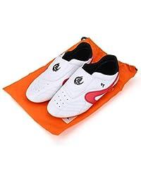 Dilwe Zapatos de Taekwondo Cuero de PU Zapatillas de Gimnasio de Artes Marciales para Adultos(41)
