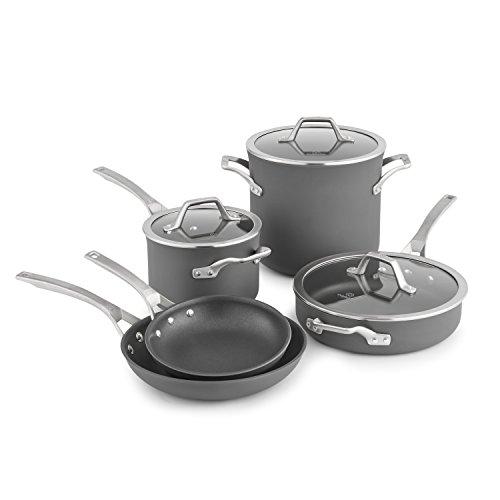 Calphalon Signature Hard Anodized Nonstick Cookware Set, 8-piece, Grey (1948247)