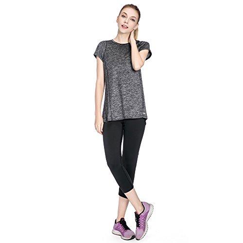 SPECIAL MAGIC T-shirt à manches courtes à manches courtes à manches courtes à manches courtes pour femme Noir Gris