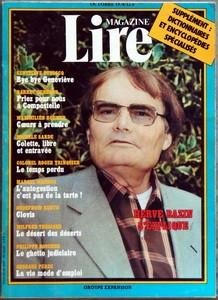 LIRE MAGAZINE du 01-10-1978 HERVE BAZIN - G. DUBOSCQ - BARRET ET GURGAND - MAXIMILIEN ROHMER - M. SARDE - COLONEL ROGER TRINQUIER - MARCEL MERMOZ - GODEFROID KURTH - WILFRED THESIGER - PH. BOUCHER - GEORGES PERE