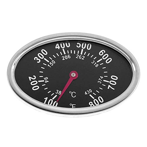 Virtue UEB Oval Stainless Steel BBQ Grill Meat Thermometer Dial Temperature Gauge Dial Meat Thermometer