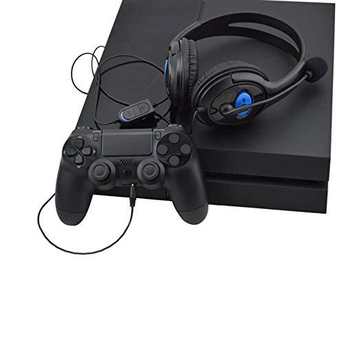 Wenwenzui-ES Cuffie da Gioco Wired Cuffie Stereo con Microfono per Sony PS3 PS4 Nero