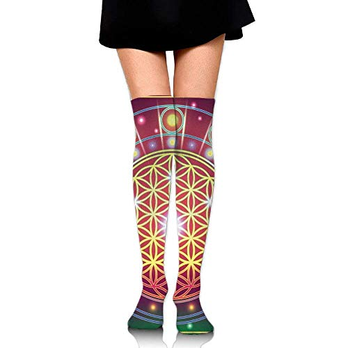 OQUYCZ Womans Spiritual Symbolic Abstract Shapes Mathematics and Artsy Digital Spring High Boot Socks