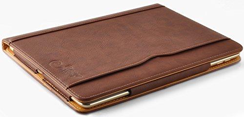 iPad-Air-und-Air-2-JAMMYLIZARD-Ledertasche-Smart-Cover-5-und-6-Generation-BRAUN-HONIG