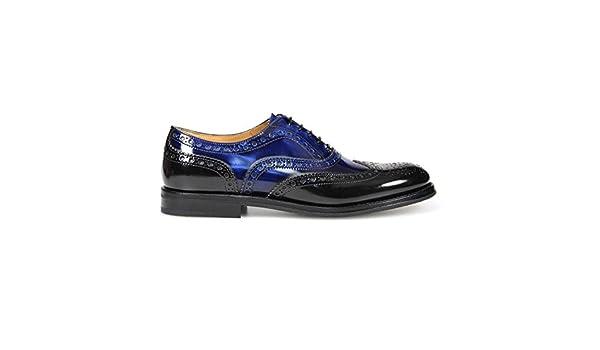 2c8f0898 CHURCH'S Burwood WG Black/Navy Lace UP: Amazon.co.uk: Shoes & Bags