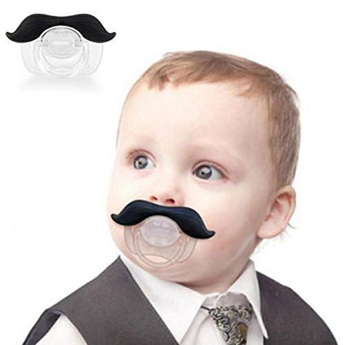 1x DURABLE divertido bigote chupete bebé de ortodoncia
