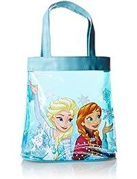 Disney Frozen Bolsa de tela y de playa, azul claro (Turquesa) - FROZEN001098