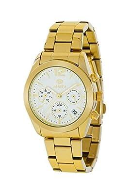 Reloj Marea Unisex,Multifunción, Calendario caja y brazalete dorado de Marea Relojes