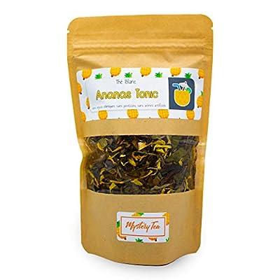 MysteryTea - ANANAS TONIC - Thé Blanc saveur Ananas Tonic - Idéal en Thé Glacé - (Doypack 60g = 30 tasses) - 100% NATUREL