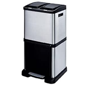 Laundry Company Trio Recycling Bin 40 Litre Tower Recycler