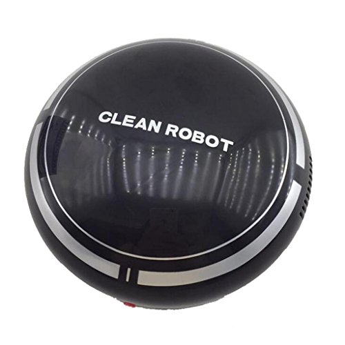 Clode® Automatischer USB Akku Roboter Vakuum Bodenreiniger Sweeping Saug (Schwarz) (Roboter Vakuum Bürsten)