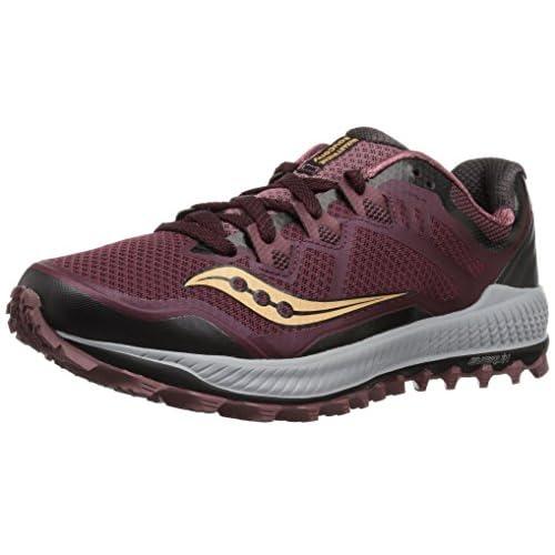 Saucony Women's Peregrine 8 Running Shoe, Wine/Beach, 11 Medium US