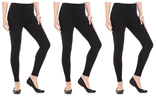 FashGlam Women Premium Ankle Length Leggings Combo of 3 Black
