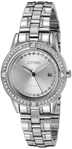 Citizen Eco-Drive Women's FE1150-58H Silhouette Crystal Watch - Grey image