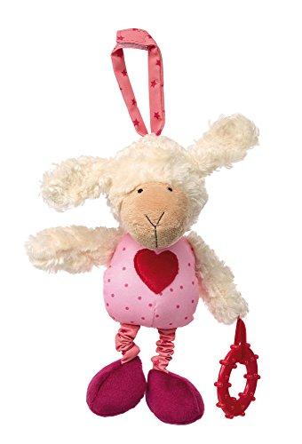 sigikid, Mädchen, Anhänger Schaf, PlayQ, Weiß/Rosa, 42205 - Mädchen Autositz Spielzeug