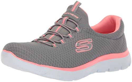 Skechers 12980, Zapatillas para Mujer, Gris (Grey/Pink), 40 EU