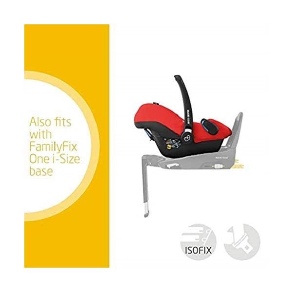 Maxi-Cosi Adorra Comfortable Urban Pushchair from Birth, Full Reclining Seat, 0 Months - 3.5 Years, 0 - 15 kg with Rock Baby Car Seat Group 0+,ISOFIX, i-Size Car Seat, Rearward-Facing, 0-12 m, Nomad Red, 0-13 kg Maxi-Cosi Cocooning seat - the luxury of a large padded seat for baby Lightweight - a light stroller less than 12kg that makes walking effortless Excellent safety rating: complies with the latest i-size (r129) car seat legislation 7